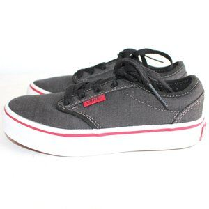 Vans Off the Wall Gray Sneakers Youth Boys Sz 12
